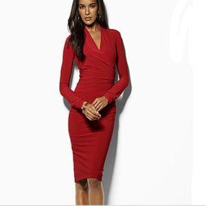 Lauren by Ralph Lauren Red Bodycon Dress NWT Sz 2